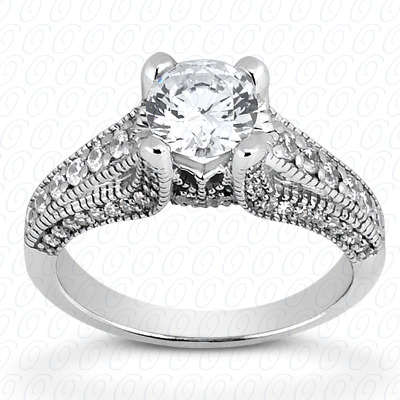 14KP Fancy Cut Diamond Unique <br>Engagement Ring 0.47 CT. Engagement Rings Style