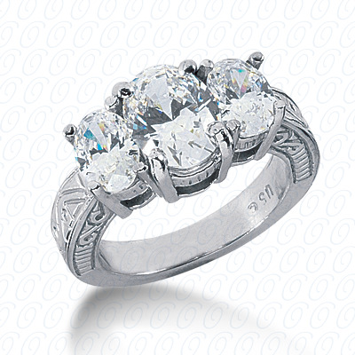 14KP Antique Cut Diamond Unique <br>Engagement Ring 0.00 CT. Engagement Rings Style