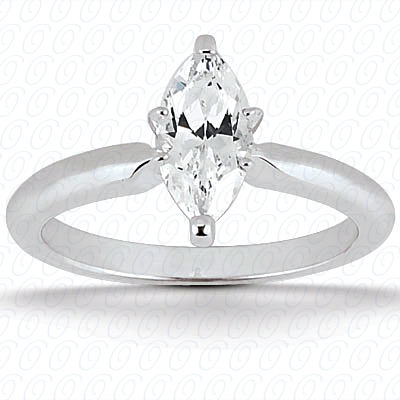 14KP Marquise 0.00 CT. Solitaires