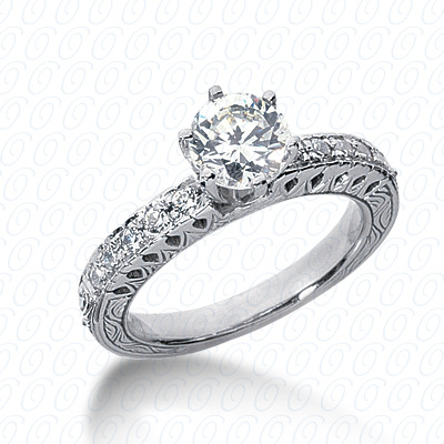 14KP Antique Cut Diamond Unique <br>Engagement Ring 0.25 CT. Engagement Rings Style