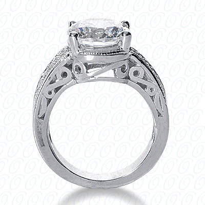 14KP Antique Cut Diamond Unique <br>Engagement Ring 0.24 CT. Engagement Rings Style