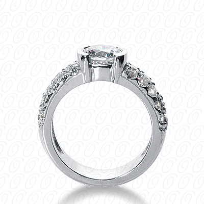 14KP Fancy Cut Diamond Unique <br>Engagement Ring 1.20 CT. Engagement Rings Style