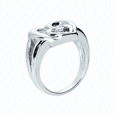 14KP Fancy Rings Cut Diamond Unique <br>Engagement Ring 0.10 CT. Fancy Rings Style