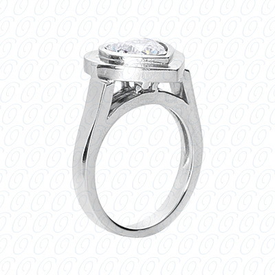 14KP Fancy Rings Cut Diamond Unique <br>Engagement Ring 0.00 CT. Fancy Rings Style