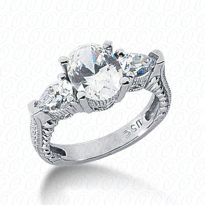 14KW Antique Cut Diamond Unique Engagement Ring 0.80 CT. Engagement Rings Style