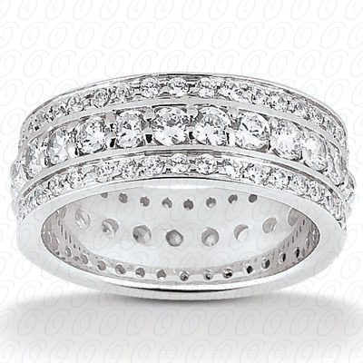 14KP  Round Cut Diamond Unique <br>Engagement Ring 1.85 CT. Eternity Wedding Bands Style