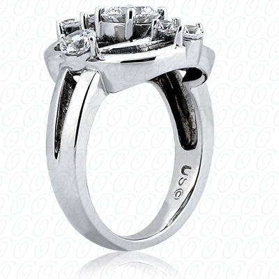 14KP Fancy Rings Cut Diamond Unique <br>Engagement Ring 0.52 CT. Fancy Rings Style