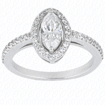 PLAT Marquise 0.40 CT. Halo