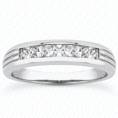 PLAT Princess 0.70 CT. Wedding Band Sets
