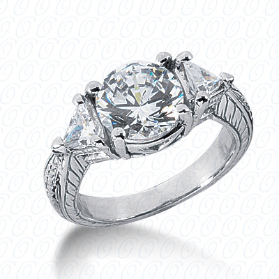 14KP Antique Cut Diamond Unique <br>Engagement Ring 0.50 CT. Engagement Rings Style