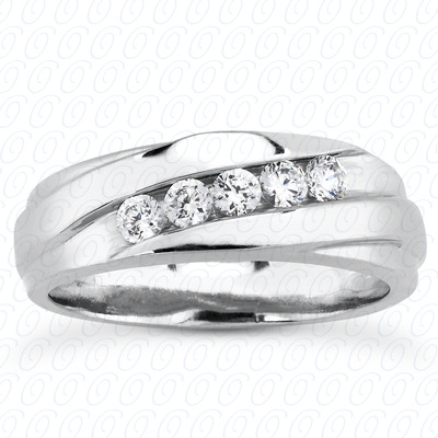 14KP Round Cut Diamond Unique <br>Engagement Ring 0.40 CT. Wedding Band Sets Style
