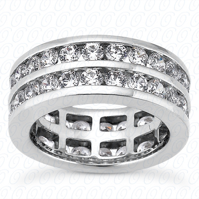 14KP  Round Cut Diamond Unique <br>Engagement Ring 3.08 CT. Eternity Wedding Bands Style