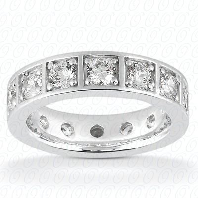 14KP  Round Cut Diamond Unique <br>Engagement Ring 1.50 CT. Eternity Wedding Bands Style