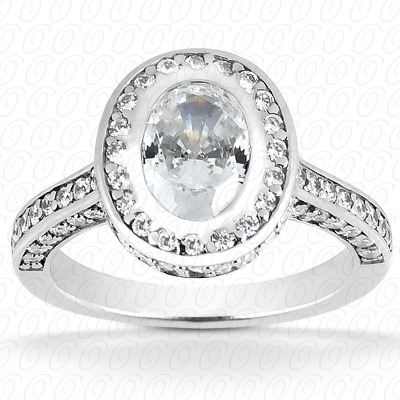 PLAT Oval 0.89 CT. Halo