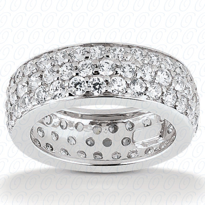 14KP  Round Cut Diamond Unique <br>Engagement Ring 1.57 CT. Eternity Wedding Bands Style