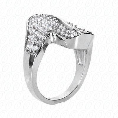 14KP Fancy Rings Cut Diamond Unique <br>Engagement Ring 1.62 CT. Fancy Rings Style