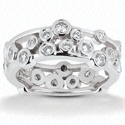14KP  Round Cut Diamond Unique <br>Engagement Ring 2.05 CT. Eternity Wedding Bands Style