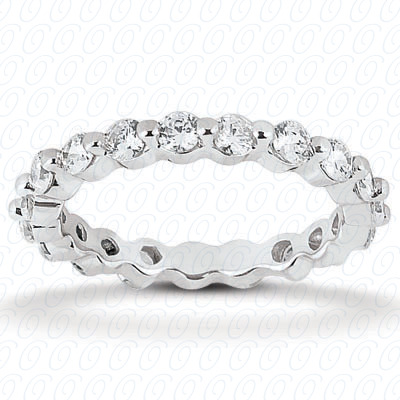 14KP  Round Cut Diamond Unique <br>Engagement Ring 1.60 CT. Eternity Wedding Bands Style