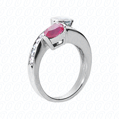 14KP Fancy Rings Cut Diamond Unique <br>Engagement Ring 0.42 CT. Fancy Rings Style