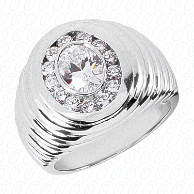 14KP Fancy Styles Cut Diamond Unique Engagement Ring 0.70 CT. Mens Rings Style