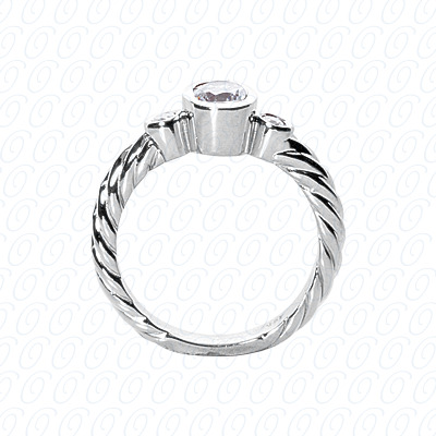14KP Fancy Rings Cut Diamond Unique <br>Engagement Ring 0.08 CT. Fancy Rings Style