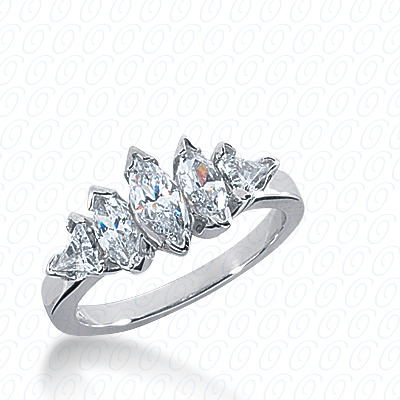 14KP Marquise Cut Diamond Unique <br>Engagement Ring 1.40 CT. Wedding Bands Style