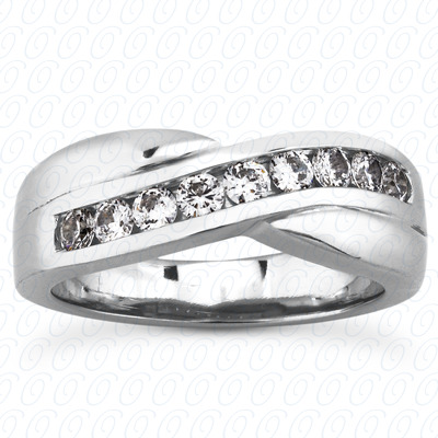 14KP Round Cut Diamond Unique <br>Engagement Ring 0.55 CT. Wedding Band Sets Style
