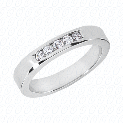14KP Wedding Bands 0.25 CT. Mens Rings