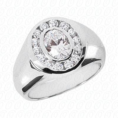 14KP Fancy Styles Cut Diamond Unique Engagement Ring 0.56 CT. Mens Rings Style