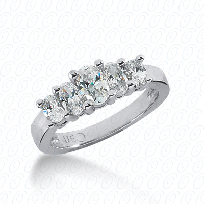 14KP Oval 1.05 CT. Wedding Bands