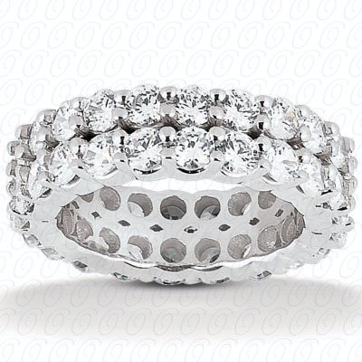 14KP  Round Cut Diamond Unique <br>Engagement Ring 4.00 CT. Eternity Wedding Bands Style