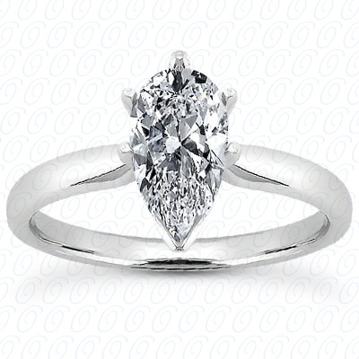 PLAT Pear Cut Diamond Unique Engagement Ring