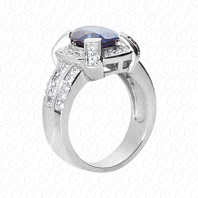 14KP Fancy Rings Cut Diamond Unique <br>Engagement Ring 0.72 CT. Fancy Rings Style