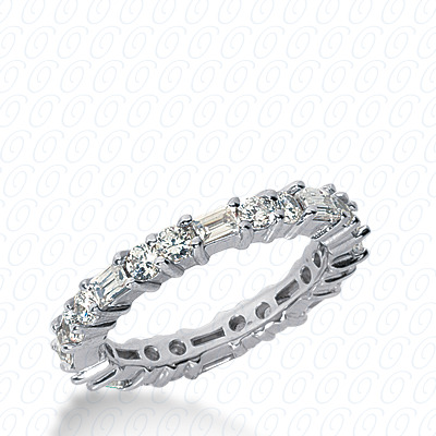 PLAT Combinations 1.33 CT. Eternity Wedding Bands