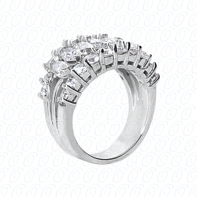 14KP Fancy Rings Cut Diamond Unique <br>Engagement Ring 2.25 CT. Fancy Rings Style