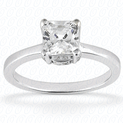 14KP Princess Cut Diamond Unique <br>Engagement Ring 0.20 CT. Solitaires Style