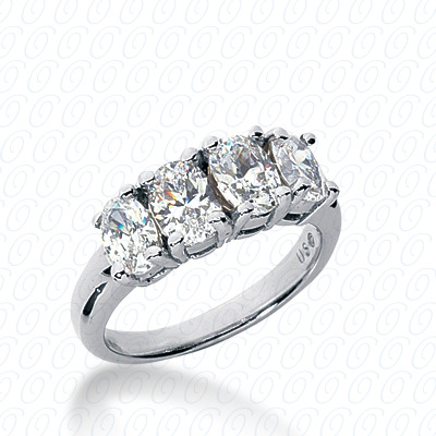 14KW Oval Cut Diamond Unique Engagement Ring 1.00 CT. Wedding Bands Style