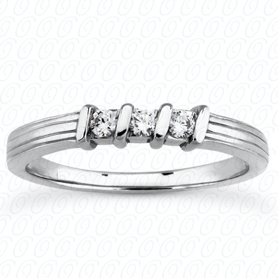 14KP Round Cut Diamond Unique <br>Engagement Ring 0.15 CT. Wedding Band Sets Style