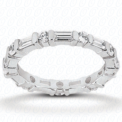 14KW Combinations Cut Diamond Unique Engagement Ring 1.82 CT. Eternity Wedding Bands Style
