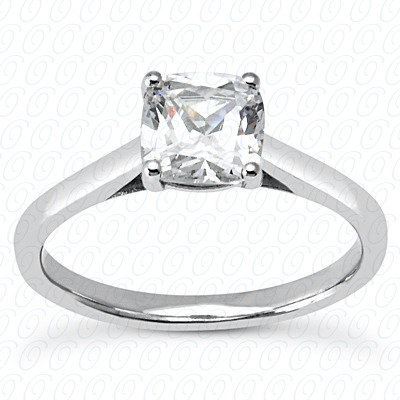 14KP Cushion 0.00 CT. Solitaires