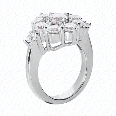 14KP Fancy Rings Cut Diamond Unique <br>Engagement Ring 1.39 CT. Fancy Rings Style