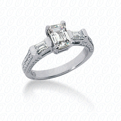 14KP Antique Cut Diamond Unique <br>Engagement Ring 0.22 CT. Engagement Sets Style
