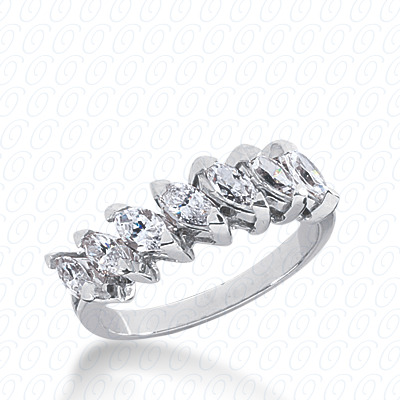 14KP Marquise Cut Diamond Unique <br>Engagement Ring 1.05 CT. Wedding Bands Style