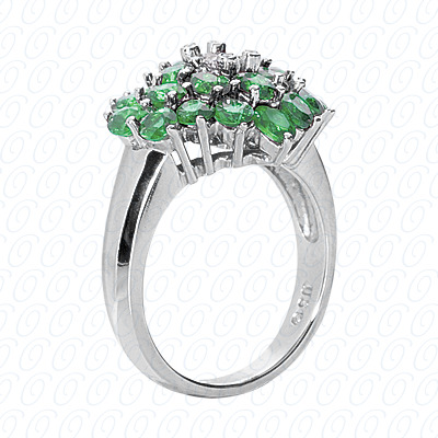 14KP Fancy Rings Cut Diamond Unique <br>Engagement Ring 4.64 CT. Fancy Rings Style