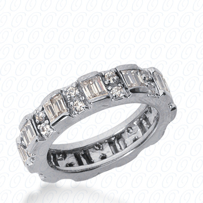 14KW Combinations Cut Diamond Unique Engagement Ring 1.70 CT. Eternity Wedding Bands Style