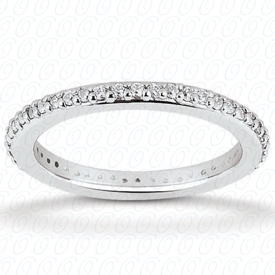 14KP  Round Cut Diamond Unique <br>Engagement Ring 0.40 CT. Eternity Wedding Bands Style