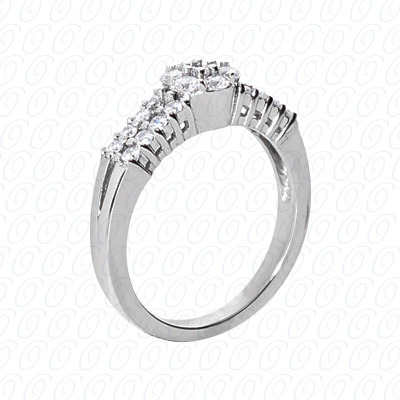14KP Fancy Rings Cut Diamond Unique <br>Engagement Ring 0.45 CT. Fancy Rings Style