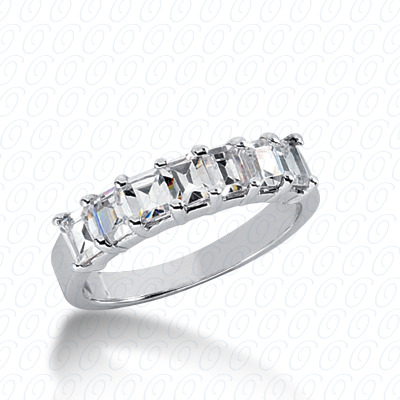 14KW Emerald Cut Diamond Unique Engagement Ring 1.25 CT. Wedding Bands Style