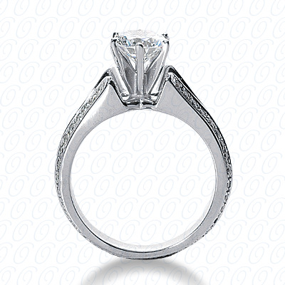 14KW Fancy Cut Diamond Unique Engagement Ring 0.56 CT. Engagement Rings Style
