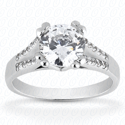 14KP Fancy Cut Diamond Unique <br>Engagement Ring 0.20 CT. Engagement Rings Style
